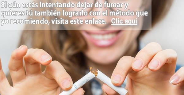 Para la muchacha ha dejado a fumar
